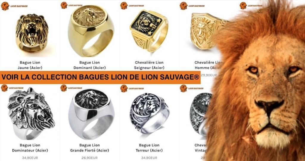 bagues lion
